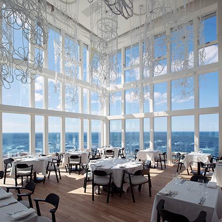 Restaurant Fogo Island Inn, Luxushotel, Neufundland, Kanada