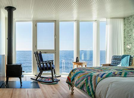 Zimmer Fogo Island Inn, Luxushotel, Neufundland, Kanada